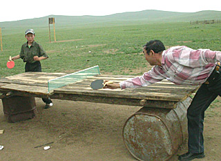 Ping Pong rustic Mongolian style  by Ron Gluckman